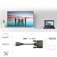 HDMI Male to DVI-D 24+1 Pin Monitor Male Display Adapter Cable Gold HD HDTV 6Ft