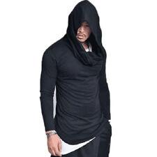 Men's Slim Fit Hoodie Long Sleeve Hip Hop Muscle Tee T-shirt Casual Tops Blouse