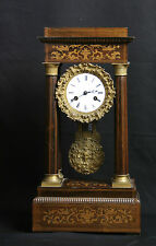 "pendule portique Charles X / French clock, ""pendule portique"" Charles X"