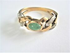 Ring Gold 585 with Emerald and Diamonds, 4,54 G
