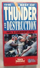The Best of Thunder And Destruction NFL'S Hardest Hits VHS 1992
