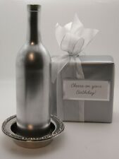 SILVERPLATED WINE COASTER MAN'S GIFT