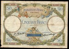 50 francs Luc Olivier. MERSON ; 21.1.1929 ; FAY #15/3 .