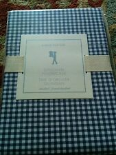"Pottery Barn Kids Gingham Navy Blue Standard Pillowcase  30 x 20"" NWT"