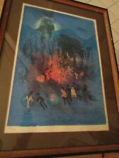 LEBADANG HOI -lithograph RENDEVOUZ SIGNED/ AUTHENTICATED PROFESSIONALLY FRAMED