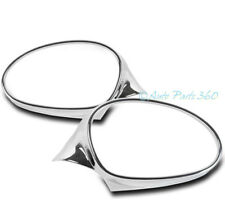 06-08 BMW E90 E91 3-SERIES 323I 325I SIDE MIRROR BEZEL MOULDING TRIM RING CHROME