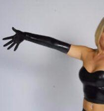 Black Latex Shoulder Length Gloves,Latex Lightweight 0.3mm gloves Small Unisex