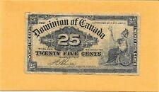 1900 DOMINION OF CANADA SHINPLASTER 25 CENTS
