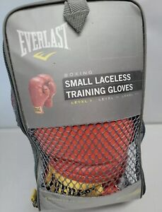 Red Everlast Small Laceless Boxing Training Gloves, *In Bag*