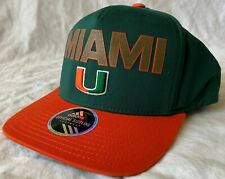 Adidas University of Miami Official Sideline Adjustable Snap-Back Cap - New!!