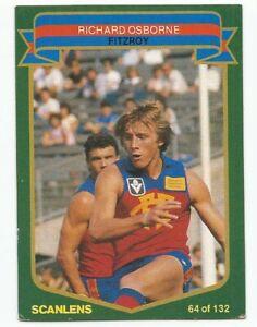 SCANLENS AFL 1985 - No. 64 - Richard Osborne - Fitzroy - near MINT