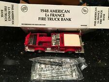 1948 LaFrance Fire Truck Ertl Die Cast Bank Belvidere Nj made in 1993