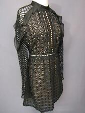 Self Portrait Black Lace Dress Long Sleeve Size 8 US UK 10