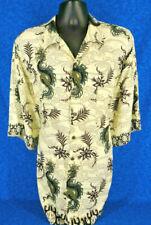 PINEAPPLE Connection Mens Short Sleeve Hawaiian Dragons Shirt Tag Size 3XT