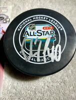 ELIAS PETTERSSON 2019 NHL ALL-STAR GAME AUTOGRAPH OFFICIAL GAME PUCK JSA COA