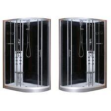 Cabina box doccia idromassaggio led 80x120 seggiolino versione dx o sx fo