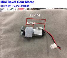 Mini Bevel Gear DC 3V 5V 6V 150RPM Micro Gearbox Gear Motor Electric Door Lock