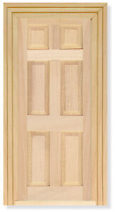 DOOR. 6  PANEL FOR DOLLS HOUSE OR SHOP. 1;12TH SCALE. WOODEN