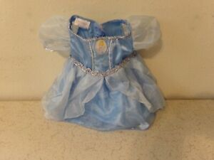 Build a Bear Workshop Blue CINDERELLA Party Dress Stitched With LOVE
