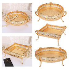 Metal Fruit Plate Tray Storage Holder Bowl Decorative Table Nut Container