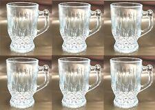 Set Of 6 Glass Tea Coffee Cups Mug Designer Glassware Tea Cup Short Coffee Mugs