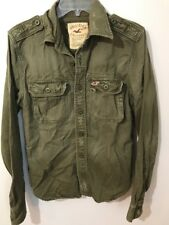 Hollister Men's Olive Green Button Up Men's Field Jacket Small EUC.  M20