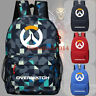 "Anime Game Overwatch Bags Color Back To School 17"" Backpack Shoulder Bags Gift"