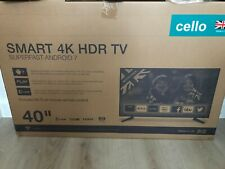 """Cello 40""""inch 4K LED Smart Internet Google Play Android Kodi WiFi Freeview HD TV"""
