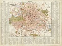 MAP ANTIQUE 1883 LEIPZIG INST. BERLIN STREET PLAN REPLICA POSTER PRINT PAM0360