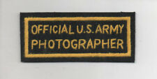 WW2 Official US Army Photographer patch, replica