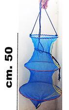 retino da pesca porta pesci in rete con chiusura cestino cestello in rete trota