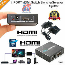 2 Output 1 input SPLITTER HDMI AMPLIFICATORE 2 VIE SWITCH BOX HUB HDTV 1080 p ph009
