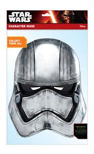 Captain Phasma Star Wars The Force Erwacht 2D Karten Party Gesichtsmaske Kostüm