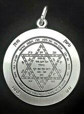 Salomons Schild Schutz Amulett 925 Sterling Silber 30 mm Talisman Anhänger Magie