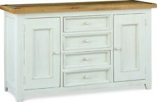 Minack Oak Large Sideboard / Dresser Base / Country Painted Oak Top Cupboard