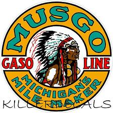 """24"""" MUSGO GASOLINE DECAL GAS AND OIL FOR GAS PUMP, SIGN, WALL ART STICKER"""