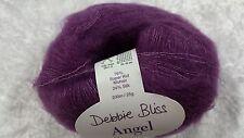 Debbie Bliss Angel #15017 Plum Luxury Mohair & Silk Yarn 25g