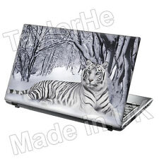 "17"" Laptop Skin Sticker Decal Tiger in Snow Animal 205"