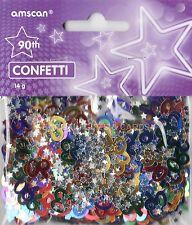 3 Pack 90 Aniversario Confeti / Cuadro De Zarzamora Multi Colores Mesa Decoraciones