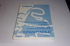 MANUEL REVUE TECHNIQUE D ATELIER YAMAHA YZ 426 F 2001 YZF service manual