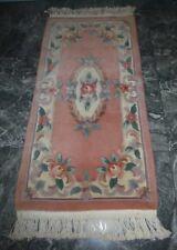 Kayam Chinese Wool Aubusson Apricot Floral Original Oriental Rug
