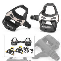 2PCS For Bicycle PD R550 SPD SL Clipless Road Bike Pedals w/ Float Cleats
