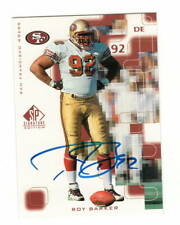 Roy Barker AUTOGRAPH San Francisco 49ers 1999 SP AUTO Football North Carolina