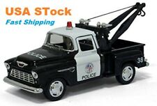 1955 Chevy Stepside Pickup, Police, Tow Truck, Diecast Model Toy Car, 5'', 1:32