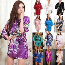Women Ladies Satin Kimono Robes Wedding Bridal Bridesmaid Sleepwear Nightwear