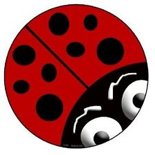 Indoor/Outdoor Lady Bug Metal Round Circular Sign 12""