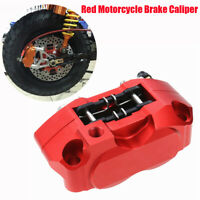 Motorcycle Brake Caliper Front Rear Disc Brake Master Cylinder Adapter 4 Piston