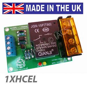 IACS 1 Channel 25A 30A Relay Board SPDT Arduino Raspberry Pi GPIO 1XHCEL Optical