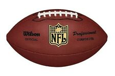 Wilson NFL Pro Football Replica Leather Ball Official Size The Duke Tacky Grip
