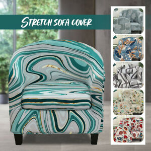 Stretch Flower Print Sofa Cover Furniture Protect Tub Chair Cover Seat Slipcover